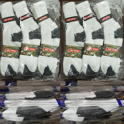 Wholesale Bulk Lots Men Crew Socks White W/Color Sports Casual Cotton 9-11 10-13