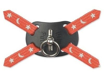 Ancol Cat Safety Harness & Lead Set Nylon Moon & Stars Red