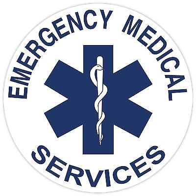 Star of Life Vinyl Sticker Decal Sign SIZES Emergency Medical Paramedic EMS EMT
