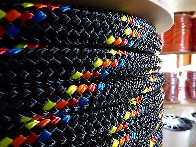 "1/2"" x 40 ft. Double Braid~Yacht Braid Polyester Rope.Made in the USA."