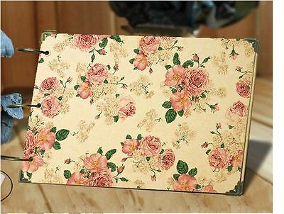 DIY 30Pages 26.8cm x 16.7cm Kraft Little Flower Photo Album Wedding Scrapbook
