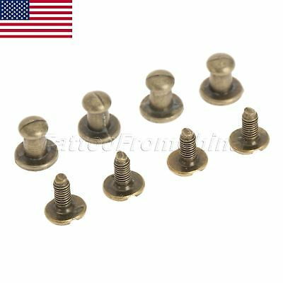12pcs Antique Brass Mini Knobs Drawer Cabinet Jewelry Box Pull Handle US Stock