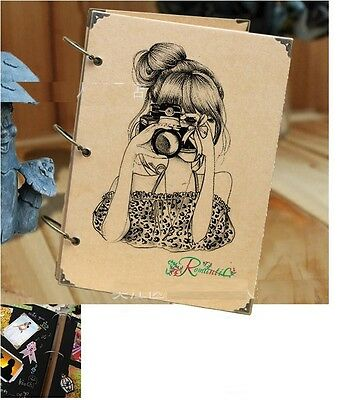 DIY 30BK Page 26.8 x 18.7cm Kraft Vertical Photo Album Wedding Scrapbook - Lady