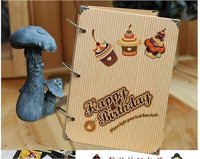 DIY 30BK Page 26.8 x 18.7 Kraft Vertical Photo Album Scrapbook - Happy Birthday
