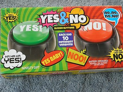 Yes & No Buttons Novelty Toy Desk Top Gift 4 Parents Teachers Coaches Boss Uncle