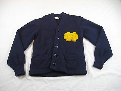 Notre Dame Vintage Childs Kids Letterman Wool Button Down Sweater