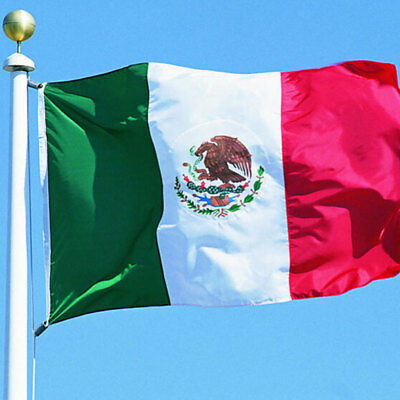 3x5 Mexico Combination Flag Mexican 3'x5' Flag Grommets 90x150cm