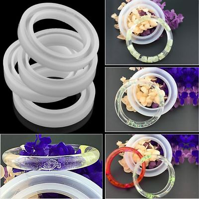 Silicone Mold Casting Mould For Resin Bangle Bracelet Jewelry Making DIY Tool-AU