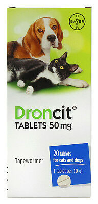 BAYER droncit comprimés - 20 PAQUET - Chat & CHIEN VERMIFUGES / endoparasite