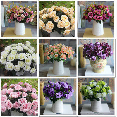 Austin 12/15 heads Fake Silk Flowers Artificial Rose Flores secas y artificiales