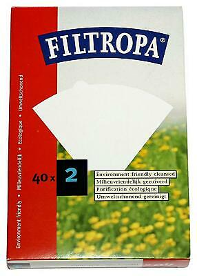 Filtropa Bleached Filter Paper, Pack of 40 - No.2 White Free Shipping!