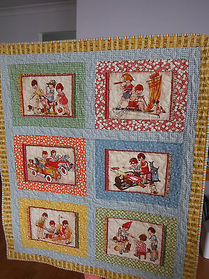Hand Made Quilt.  American Jane Fabrics. Baby/toddler Cot/pram Quilt Or Play Mat