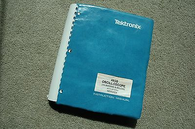 Tektronix 465B Original Service Manual with all Schematic Parts: 070-2757-00
