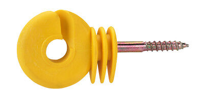 Corral Ring Insulator Compact Yellow X 25 Pack Livestock Equine Fencing Horse Ca