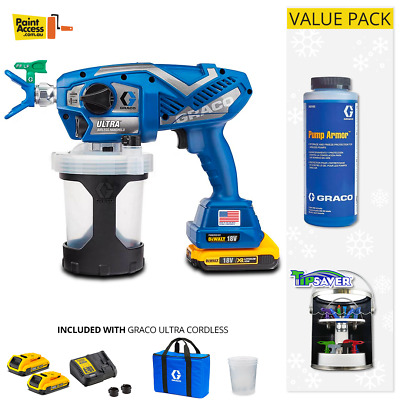 Graco Ultra / UltraMax Cordless Airless Handheld Paint Sprayer DeWalt Battery