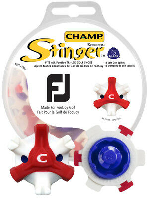 Champ FootJoy Stinger Softspikes Red Tri-Lok