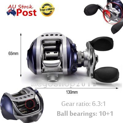 Baitcasting Fishing Reel 10+1BB Bait Casting Fishing Reel G-Ratio 6.3:1 M2