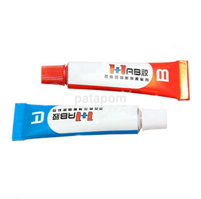 New 2pc Component Resin A+B Glue Strong Adhesive Epoxy Super Sticky CA