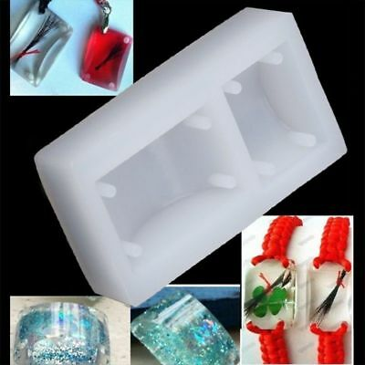 Rectangle Silicone Mold Bracelet Pendant Jewellery Making Mould Resin Hole DIY