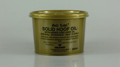 Gold Label Solid Hoof Oil Natural X 500ml Horse Hoof Care Equine Grooming