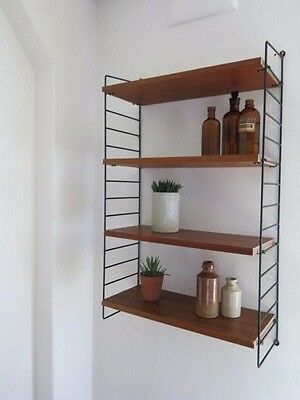 Vintage Mid Century String Shelving Unit 20th Century Modular Sheving Unit