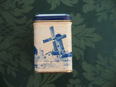 Vintage Small Butter Sweets Blue & White Dutch Scene Tin
