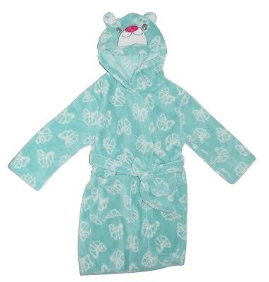 Tweet Twoo Kids Girls Dressing Gown Bath Robe Bear Hood - Green Size 3 4 5 6 7