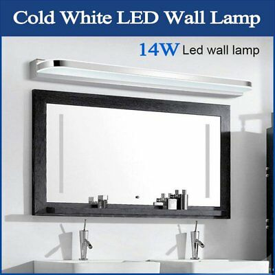 Modern LED Wall Lamp Bathroom Mirror Vanity Front Mounted Shining Light 14W Cold