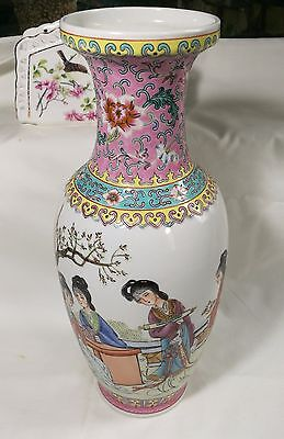 Hand painted Porcelain vases made in China Stamped H30cm
