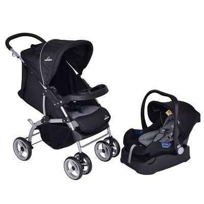 New 3 in 1 Foldable Steel Travel System Baby Newborn Stroller Car Safety Seat US