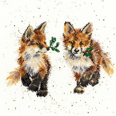 Bothy Threads Glad Tidings Foxes Hannah Dale Counted Cross Stitch Kit Xhd18