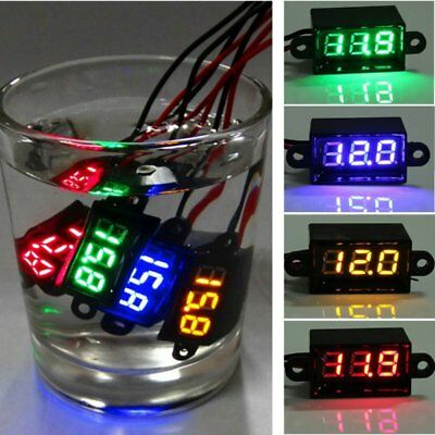 "3.5-30V 0.28"" Waterproof LED Digital Battery Voltmeter Volt Meter 12V Car MotoUK"