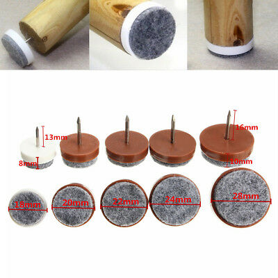 20pcs Felt Feet Pad Skid Glide Furniture Nail Floor Table Chair Protector  Leg