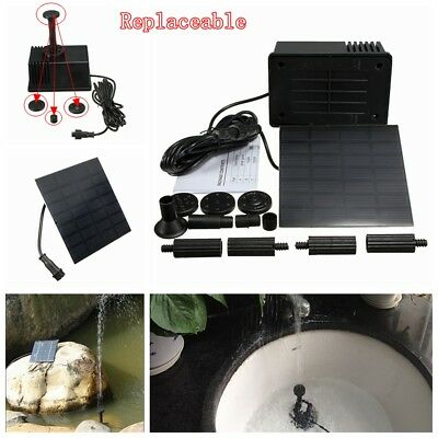 Solar Water Feature Pump Power Panel Kit Fountain Pool Garden Pond Watering