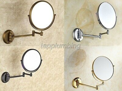 Dual Arm Extend Bathroom Mirror Wall Mounted Magnifying Makeup Bath Mirror J024