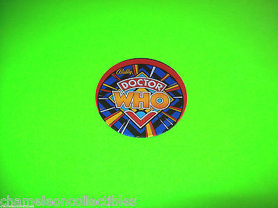 DOCTOR WHO By BALLY MISPRESSED ORIG NOS PINBALL MACHINE PLASTIC PROMO COASTER