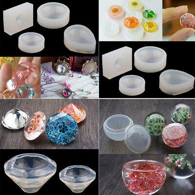 Silicone Sphere Ball Diamond Shape Mold Mould DIY Pendant Jewelry Making Tool-AU