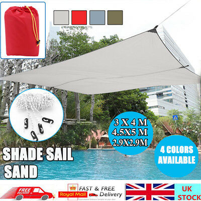 3x4m Easy Carry Sun Shade Sail Garden Patio Awning Canopy Sunscreen Free Deliver