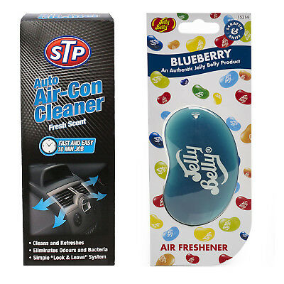 STP Auto Air-Con Cleaner 150ML + Blueberry Jelly Belly Air freshener