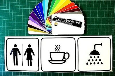 Wc / Coffee / Shower Sign Sticker Decal