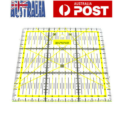 Quilting Sewing Patchwork Ruler Grid Cutting Tailor Tool 15x15cm AU