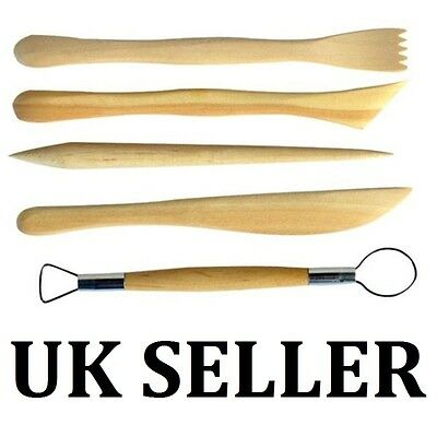 5Pc 6inch Sculpting Clay Tools Set Wax Carving Shapers Polymer UK SELLER
