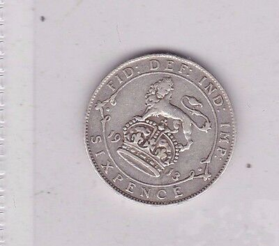 1913 George V Sixpence In Near Very Fine Condition