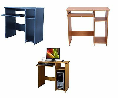 New Black/Beech Wooden Laptop Computer Desk Basic Home Office Table Workstation