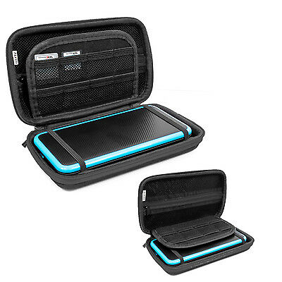 Orzly Carry Case for New Nintendo 2DS XL or 3DS XL - Black/Black