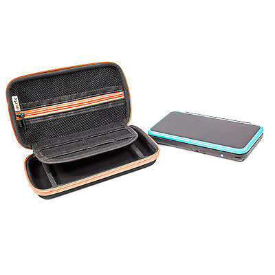 Orzly Carry Case for New Nintendo 2DS XL or 3DS XL - Black/Orange