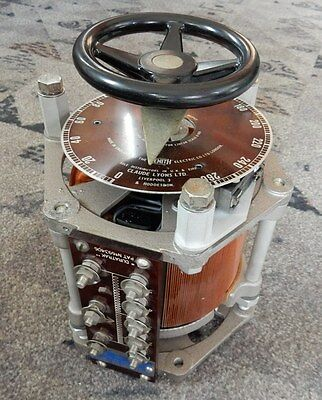 Large Zenith 100R Ki Duratrak Open Variac. 8 Amps. With Switch And Fittings
