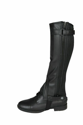 RED HORSE Horse Riding Chaps/Gaiters - 'Rexion' - Black