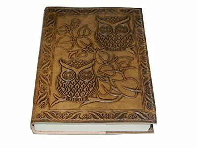 Handmade Owl Embossed Leather Journal Pocket Style Dairy Notebook 7x5 Blank
