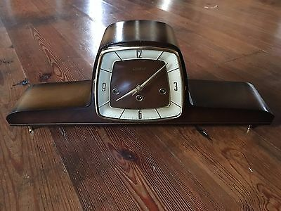 ART DECO Chronos - HERMLE dual CHIMING MANTEL CLOCK FROM 1950´S